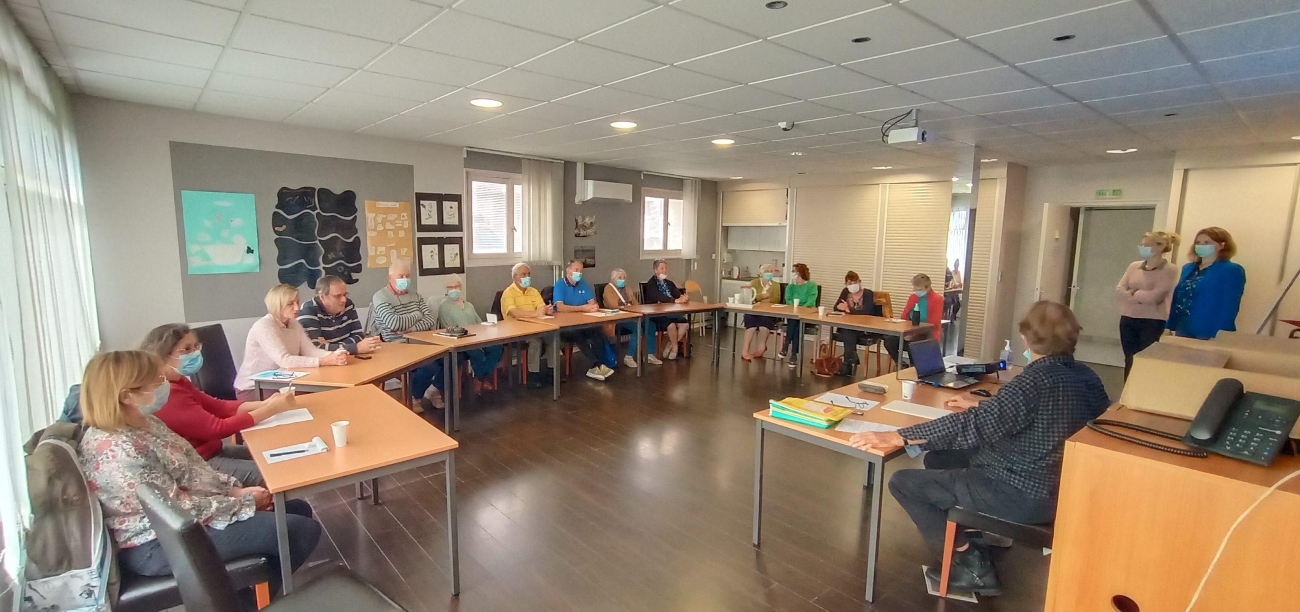 1ere session de formation des aidants sur les maladies neurodégénératives.